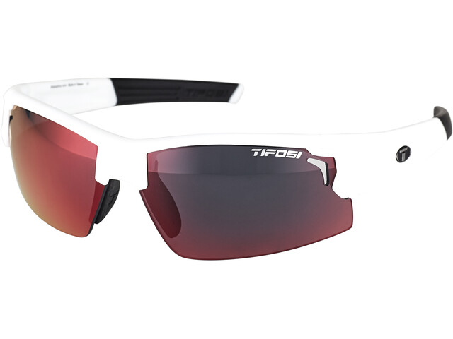 Tifosi Escalate FH Occhiali Uomo, matte white - clarion red/ac red/clear